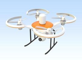 Air drone with camera flying in the sky photo