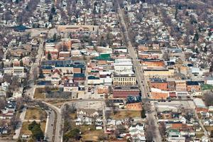 Vista aérea de Fostoria, Ohio foto