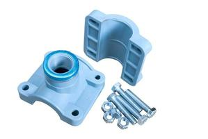 clamp on plastic pipes photo