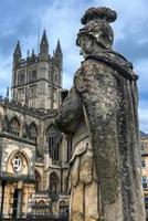 statue of roman soldier in Bath, England