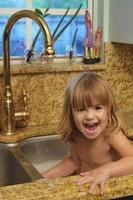 feliz bañista foto