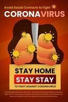 Stay Home, Health Concern Avoid Social Contact Poster vector