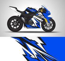 Blue motorcycle sportbikes wrap  vector