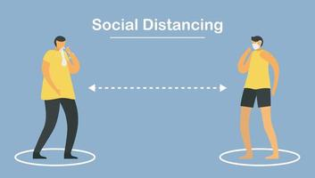 Social distancing. Stay away from people.