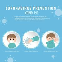 COVID-19 Prevention Poster vector
