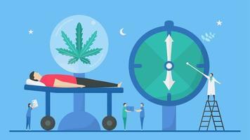 Benefit of cannabis improving sleep schedule vector
