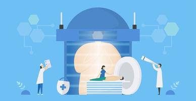 MRI medical scanning systems vector