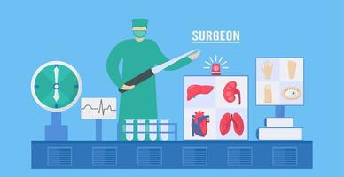 Surgeon Infographic Design vector