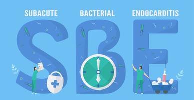 Subacute bacterial endocarditis design vector