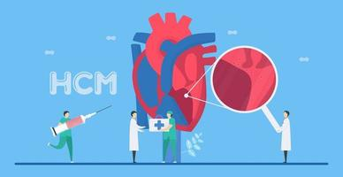 Hypertrophic Cardiomyopathy HCM Disease Concept