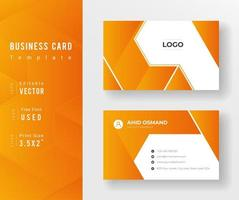 Orange Gradient Angled Shapes Business Card Template
