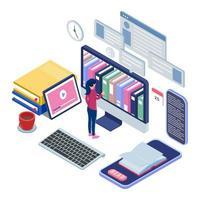 vrouwelijk plukboek bij online bibliotheek