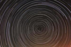 star trails at night sky