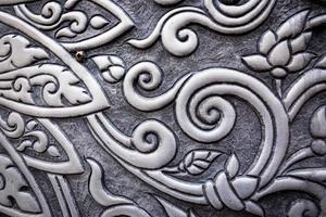 Silver Thai pattern photo