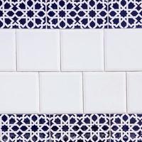 patrón oriental de azulejos foto