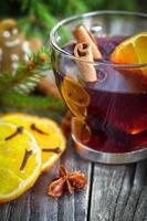 Mulled wine - holiday decoration photo