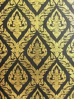 Thai arts pattern wall background photo