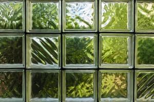 patrón de pared de bloques de vidrio