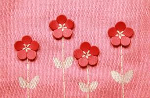Embroidery pattern on canvas
