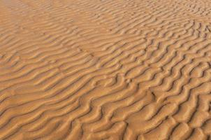 Wind patterns on the beach. photo