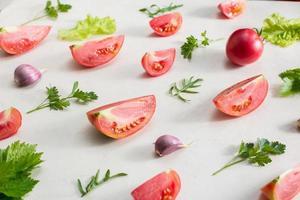 vista superior del patrón de verduras frescas
