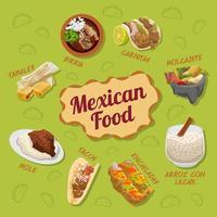 cartel de comida mexicana vector