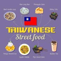 affiche de cuisine de rue taiwanaise