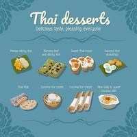 Thai Desserts Poster Design  vector