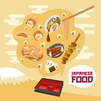 Japanese Food Poster  vector