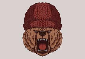 Angry bear head vector