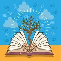 Book with Tree Design
