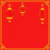Red Color Gold Chinese Background vector