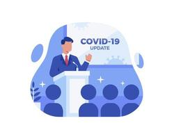 actualización de noticias de coronavirus vector