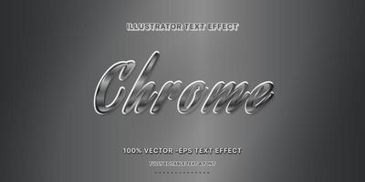 Chrome Editable Text Style vector
