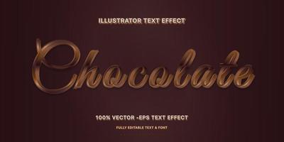 stile di testo modificabile cioccolato fondente