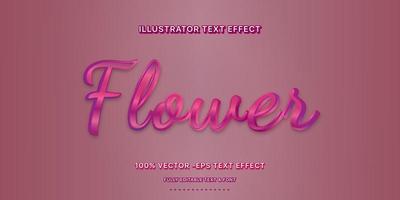 estilo de texto editável gradiente rosa roxo brilhante