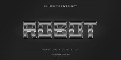estilo de texto editável de meio-tom metálico