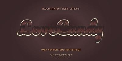estilo de texto editável de doces de café