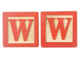 Letra w recorte en cartón foto