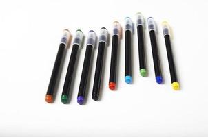 canetas com cores