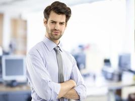 Retrato de joven empresario