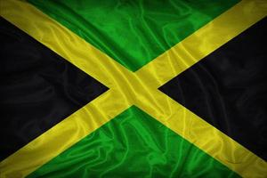 Jamaica flag pattern on the fabric texture ,vintage style