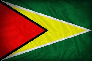 Guyana flag pattern on the fabric texture ,vintage style