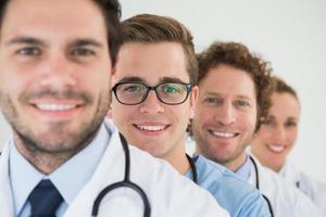 retrato da equipe médica