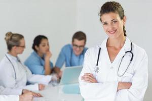 retrato da bela médica