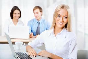 Portrait of attractive business woman photo