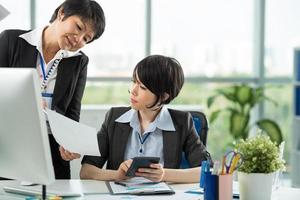 Two businesswomen photo