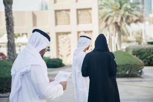 Arabian Businesspersons Outdoors photo