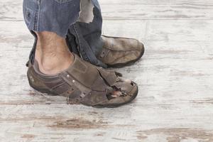 arme Füße