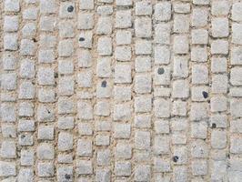 Pattern of cobblestone sidewalk